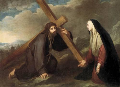 jesus carregando a cruz catolica-reproducao-de-murillo-tela-14072-MLB180184580_7129-O